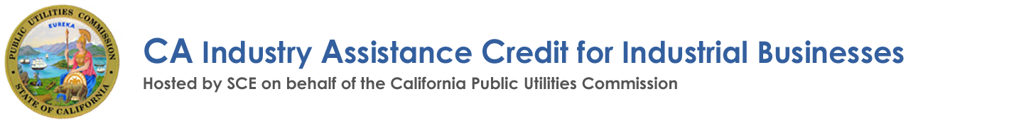 CA Industry Assistance Credit for Industrial Businesses