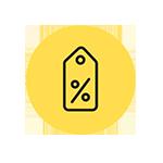 Percentage Tag Icon